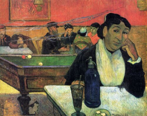 Madame Ginoux in Cafe by Paul Gauguin Giclee Fine ArtPrint Repro on Canvas
