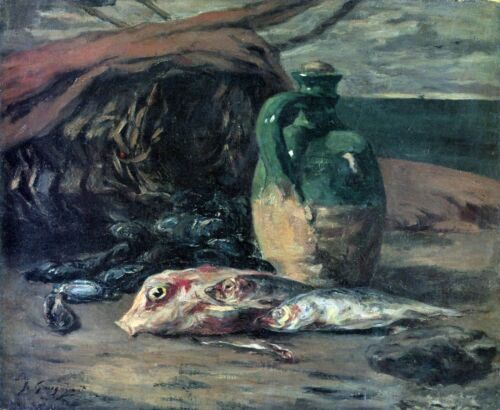 Still Life with Fish by Paul Gauguin Giclee Print Reproduction on Canvas