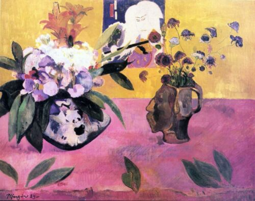 Still Life with Japanese by Paul Gauguin Giclee Fine Art Print Repro on Canvas