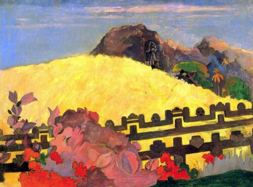 There is the Temple by Paul Gauguin Giclee Fine ArtPrint Reproduction on Canvas