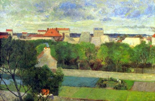 Vegetable Famers in Vauguirard by Paul Gauguin Giclee Fine ArtRepro on Canvas