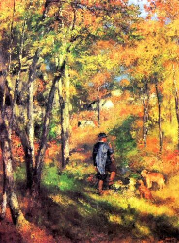 Jules le Coeur and his dogs by Pierre-Auguste Renoir Giclee Repro on Canvas