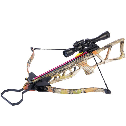 180 lb Camouflage Hunting Crossbow Bow +4x20 Scope + 7 Arrows / Bolts 150 80 50Crossbows - 33972
