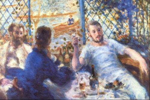The Rowers Lunch by Pierre-Auguste Renoir Giclee Fine ArtPrint Repro on Canvas