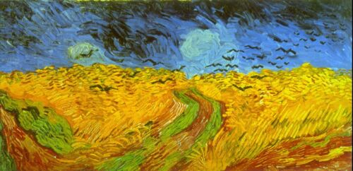 Wheatfield by Vincent Van Gogh Giclee Fine Art Print Reproduction on Canvas