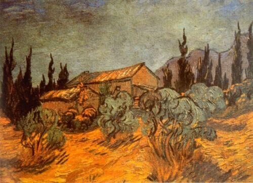 Wooden Sheds by Vincent Van Gogh Giclee Fine Art Print Reproduction on Canvas