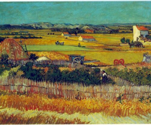 The Harvest, Arles by Vincent Van Gogh Giclee Fine Art Print Repro on Canvas
