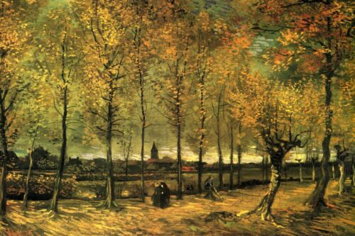 Lane with Poplars by Vincent Van Gogh Giclee Fine Art Print Repro on Canvas