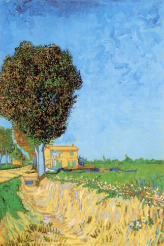 A Lane near Arles by Vincent Van Gogh Giclee Fine Art Print Repro on Canvas
