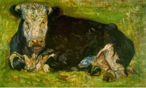 Lying Cow by Vincent Van Gogh Giclee Fine Art Print Reproduction on Canvas