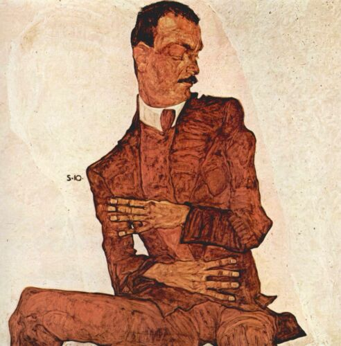 Portrait of Arthur Rossler by Egon Schiele Giclee Fine Art Print Repro on Canvas