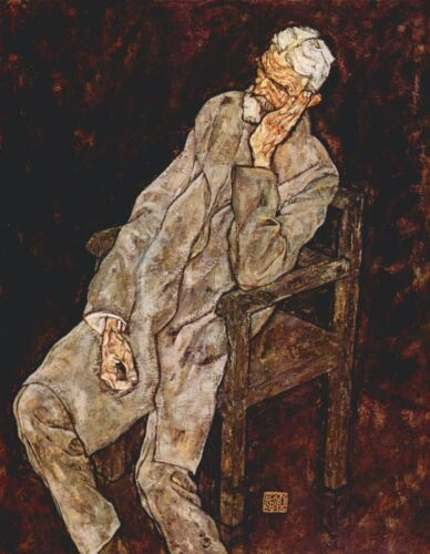 Portrait of Johan Harms by Egon Schiele Giclee Fine Art Print Repro on Canvas