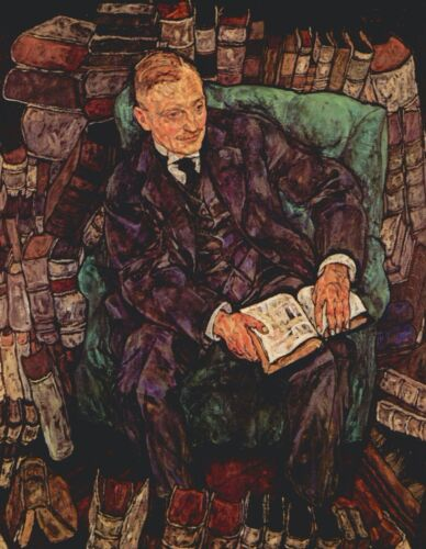 Portrait of Hugo Koller by Egon Schiele Giclee Fine Art Print Repro on Canvas