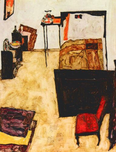 Schiele's living room in Neulengbach by Egon Schiele Giclee Repro on Canvas