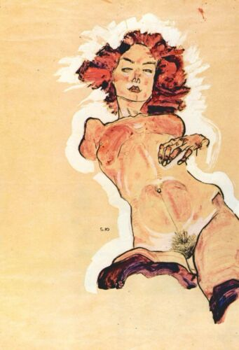 Female Act by Egon Schiele Giclee Fine Art Print Reproduction on Canvas