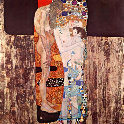 The three ages of a woman by Gustav Klimt Giclee Fine ArtPrint Repro on Canvas