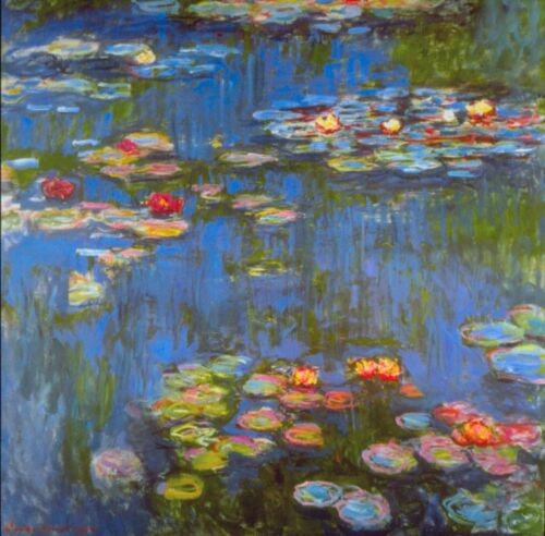 Waterlillies by Claude Monet Giclee Fine ArtPrint Reproduction on Canvas