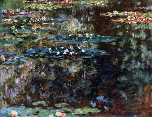 Water garden at Giverny by Claude Monet Giclee Fine ArtPrint Repro on Canvas