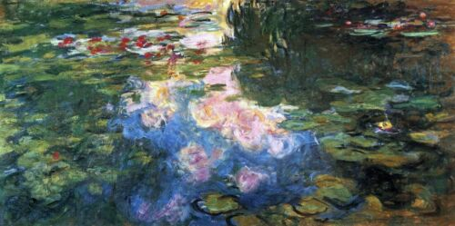 Water Lillies # 4 by Claude Monet Giclee Fine ArtPrint Reproduction on Canvas