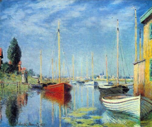 Pleasure Boats at Argenteuil by Claude Monet Giclee Reproduction on Canvas