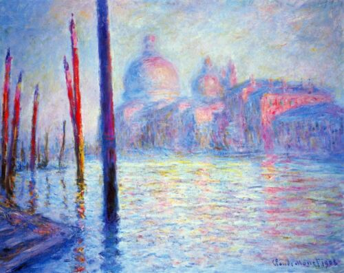 Canal Grand by Claude Monet Giclee Fine ArtPrint Reproduction on Canvas
