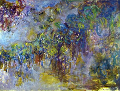 Wisteria [2] by Claude Monet Giclee Fine ArtPrint Reproduction on Canvas