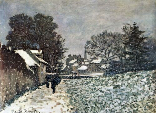 Snow at Argenteuil by Claude Monet Giclee Fine ArtPrint Reproduction on Canvas