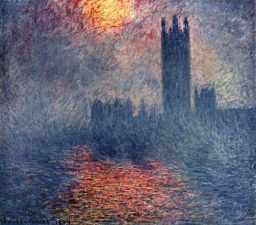 Parliament in London by Claude Monet Giclee Fine ArtPrint Repro on Canvas