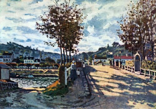 The Seine at Bougival by Claude Monet Giclee Fine ArtPrint Repro on Canvas