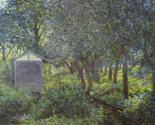 In Monets garden, Giverny by Claude Monet Giclee Fine ArtPrint Repro on Canvas