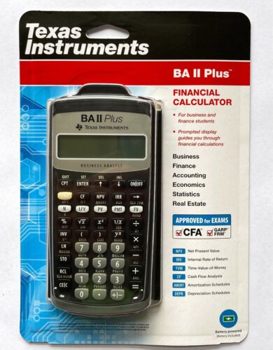 Texas Instruments TI BA II PLUS Financial Calculator, CFA Approved, Brand New <br/> Retail packaging, Aus stock, GST included, Warranty