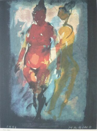 """MARINO MARINI """"FONDALE""""  SIGNED HAND NUMBERED 512/800 LITHOGRAPH NUDE"""