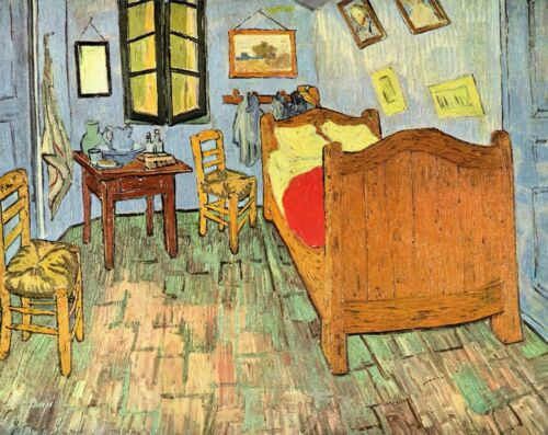 Van Gogh's Bedroom by Vincent Van Gogh Giclee Fine Art Print Repro on Canvas
