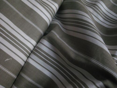 ANTIQUE FRENCH TICKING FABRIC- Classic Brown Stripes- Unused