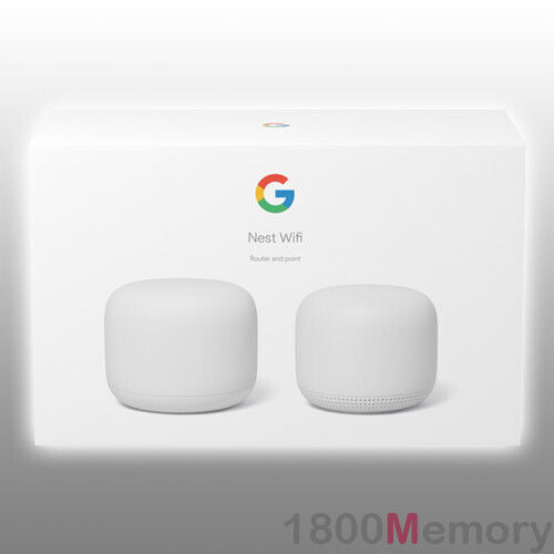 Google Nest Wifi Home Mesh Wi-Fi System Wireless Router Point 2 Pack 802.11s