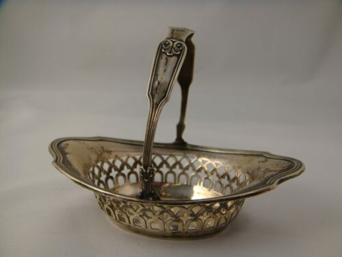 Beautiful Antique Gorham Sterling Silver Basket / Nut Dish - A7975