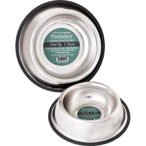 No Tip Stainless Steel Dog Bowl, USA Seller, 8 sizes Non Skid Slip Pet Cat Dish