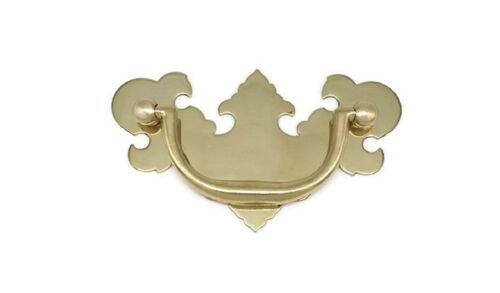 "CHIPPENDALE VICTORIAN DRAWER PULLS, SOLID BRASS, 3"" CENTER TO CENTER"