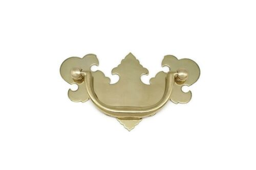 """CHIPPENDALE VICTORIAN DRAWER PULLS, SOLID BRASS, 2 1/2"""" CENTER TO CENTER"""