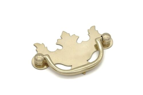 """CHIPPENDALE VICTORIAN DRAWER PULLS, SOLID BRASS, 2 """" CENTER TO CENTER"""