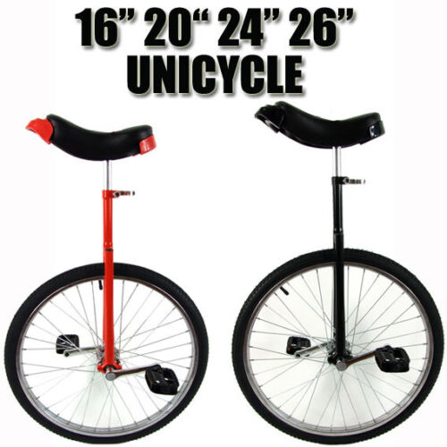 """Unicycle 16 - 26"""" Fitness Pro Fun Uni Cycle Black Scooter Circus Bike Youth Kids <br/> ."""