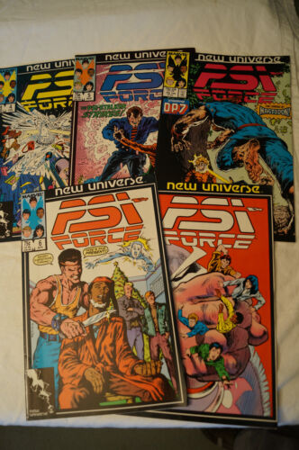 CLASSIC MARVEL COMIC BOOKS x 5 - PSI Force - New Universe - Great Titles.