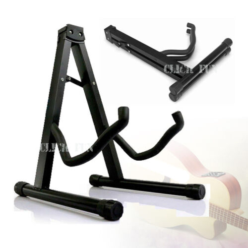 Folding Guitar Stand Electric Acoustic Bass Floor Rack Holder Fast Shipping