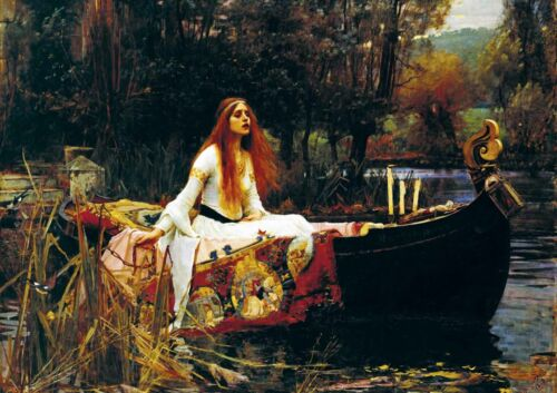 J.W.Waterhouse - The Lady of Shalott - Huge A0 Quality Canvas Art Print Poster