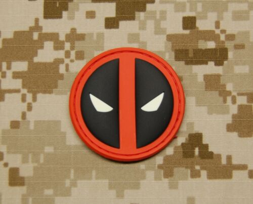 3D PVC Deadpool GITD Morale Patch VELCRO® Brand Hook BackingOther Current Military Patches - 36070