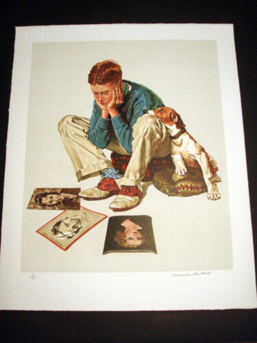 """Norman Rockwell Original Lithograph Hand Signed """"Starstruck"""" 3/200"""