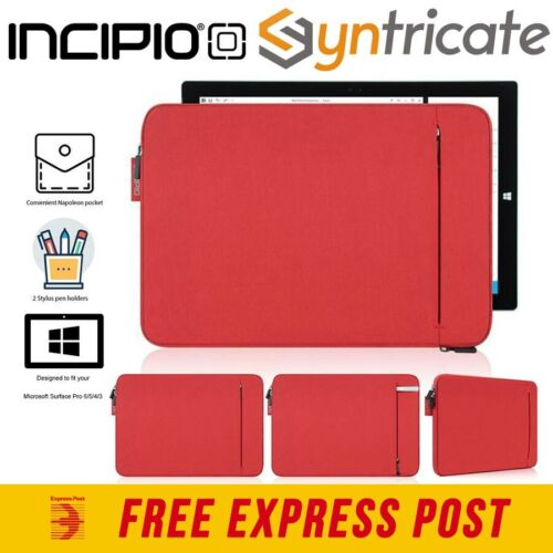 MICROSOFT SURFACE PRO 7/6/5/4/3 INCIPIO ORD SLEEVE PROTECTIVE PADDED SLEEVE -RED
