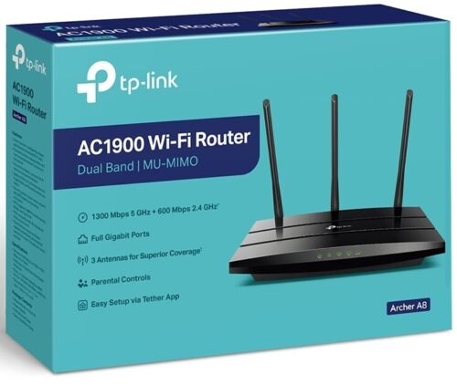TP-Link Archer A9 AC1900 Dual Band Wireless Gigabit Router Wave2 MUMIMO WIFI USB