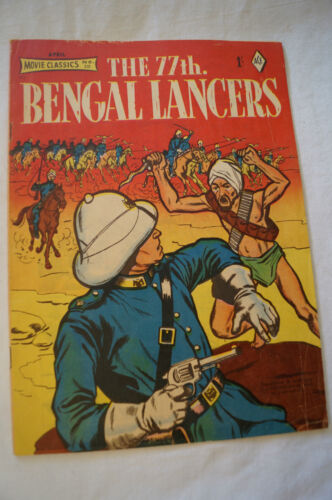 CLASSIC VINTAGE1958 ACE MOVIE CLASSIC 1 Shilling COMIC - The 77th Bengal Lancers