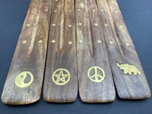 3 X HAND CARVED INCENSE STICK HOLDER New Style Christmas Xmas Gift